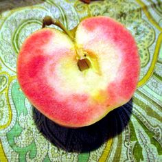 Hidden Rose Apples - Red on the inside! Fried Apples, Apple My, Apple Roses, Beautiful Fruits, Exotic Fruit, Vanilla Ice Cream, Sugar And Spice, Fruit Recipes, Yummy Food