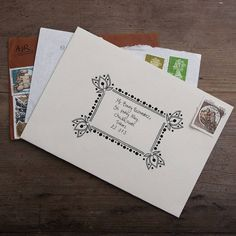 Great idea for decorating envelopes