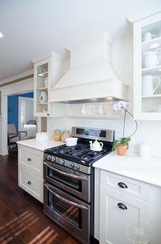 White Kitchen Cabinets #DreamBuilders #janabishopphotography #NateBerkus #Craftsman