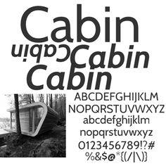 Huidige lettertype GGG - Cabin