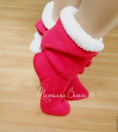 Knitted Slippers, Christmas Stockings, Winter Hats, Holiday Decor, Cleopatra, Free, Slipper, Tejidos, Weaving