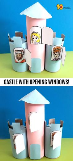 Castle With Opening Windows – Paper Roll Craft #paperrollcrafts