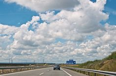 Highway from Madrid to Sevilla (Spain)