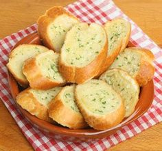 "Make with bought French bread Homemade Garlic Bread ""!! My kind of homemade!!"