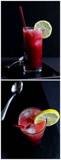 Tart Cherry and Peach Sparkler Recipe...A fantastic pick-me-up with surprising health benefits. | cookincanuck.com #drink