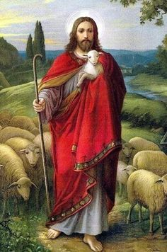 """""""I am the good shepherd."""" The Good Shepherd by Oswald Völkel Jesus And Mary Pictures, Pictures Of Jesus Christ, Jesus Christ Painting, Jesus Art, Jesus Our Savior, Jesus Is Lord, Christ The Good Shepherd, Jesus Photo, Première Communion"""