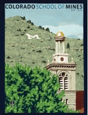 Colorado School of Mines By The Bungalow Craft by Julie Leidel.  Original art and high quality goache prints by Julie Leidel.  See (and maybe even buy) her work at www.bungalowcraft.com.
