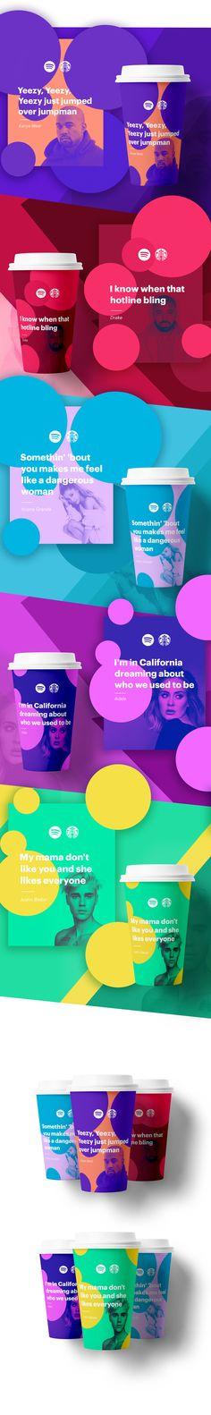 Starbucks X Spotify on Behance