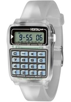 Vestel Datamat Watch (Clear) - $55 (Could come in handy. See what I did there?)