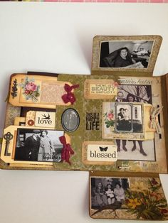 Compendium of Curiosities 3, Challenge #23  - Tim Holtz Collection Folio Mini Album -Paper Skies and Hazel Eyes
