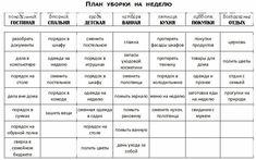 FlyLady Домашний уют: ФлайЛеди. Планирование недели