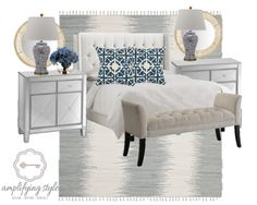 Master bedroom design board!  Contact me if you'd like one personalized for you.  www.amplifyingstyle.com