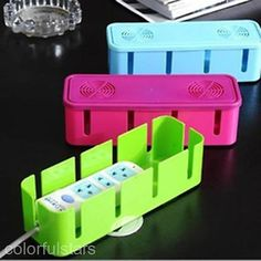 Home Use Socket Board Power Cables Storage Box Organizer Container Safety Box
