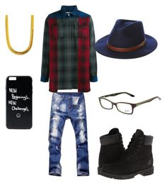 """""""All purpose flee"""" by mrmcflee on Polyvore featuring Off-White, Timberland, The Gold Gods, Ray-Ban, Brixton, men's fashion and menswear"""