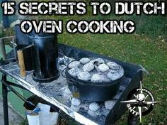 A Dutch Oven Cooking Primer, Part Cooking Tips & Recipes - Survival Mom Fire Cooking, Cast Iron Cooking, Oven Cooking, Outdoor Cooking, Cooking Tips, Cooking Classes, Cooking Kale, Skillet Cooking, Outdoor Food