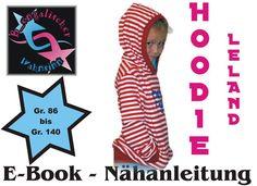 "Nähanleitungen Kind - Ebook ""Hoodie Leland"" Gr. 86 - 140 Schnittmuster - ein Designerstück von B_Engalischer-Wahnsinn bei DaWanda"