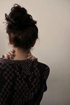 sweater & top knot