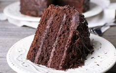 Chocolate cake that is delicious, decadent, and so easy to make. It's also gluten, dairy, and egg-free, so whether you make it for a birthday party, special occasion, or well-deserved treat, everyone can enjoy a slice, or two!