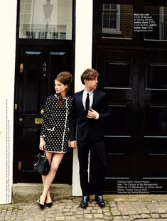summers coolest couple: estelle yves and harry treadaway by chris craymer for uk glamour