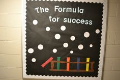 The Formula for Success - chemistry inspired bulletin board at ETSU
