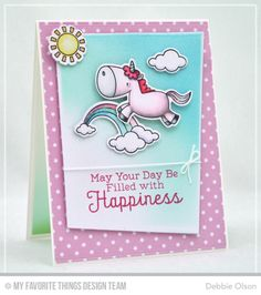 Magical Unicorns, Magical Unicorns Die-namics, Rainbow Greetings, Blueprints 15 Die-namics - Debbie Olson  #mftstamps