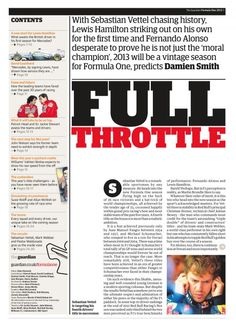 Guardian F1 2013 Supplement page