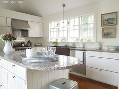 lovely kitchen: Tone on Tone: Castine: Our Kitchen, Memorial Day And L'Hermione