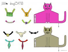 Made by Joel Dressy Cats Parents Printout