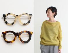 glasses hair clips