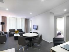 Modern Suite with 2 Bedrooms #NorthRyde #Sydney #Luxury #Accommodation #Meriton