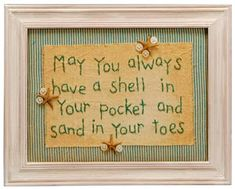 Shell In Your Pocket Stitchery - back in stock and on sale 10% off