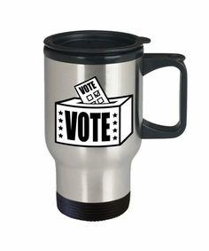 2020 Elections Coffee Travel Mug-funny Travel mug,USA Election Mug,Political coffee mug,Voter Registration,Get Out the Vote Travel Mug 2020