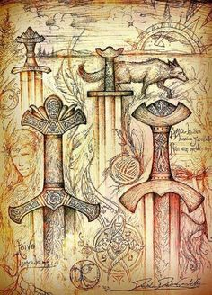 Swords by Cedarlore Forge