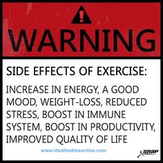 WARNING: Healthy Side Effects Possible! #motivation #fitspiration #health #inspiration #fitlife #fitness #fitlife #moveyourbody