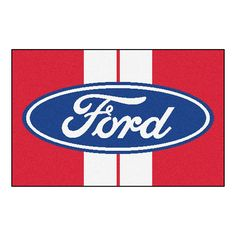 Ford Ford Oval with Stripes Starter Floor Mat (20x30)