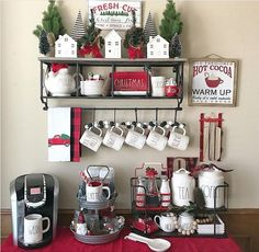 Find ways to create the best DIY coffee station ideas these unbelievably stylish. From home coffee station, DIY coffee station, to kitchen coffee station. Coffee Bar Home, Home Coffee Stations, Coffee Corner, Coffee Bars, Coffee Nook, Coffee Bar Ideas, Drink Coffee, Coffee Cup, Christmas Coffee
