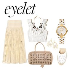 """""""Eyelet Summer"""" by shamrockclover ❤ liked on Polyvore featuring Chloé, Hollister Co., Maiden Lane, Prada, Ippolita and Kate Spade"""