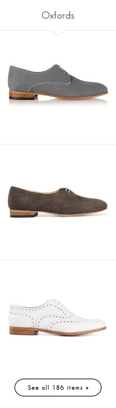 """""""Oxfords"""" by giovanna1995 ❤ liked on Polyvore featuring shoes, oxford, straps, brogue, oxfords, blue, low heel shoes, balmoral oxfords, blue canvas shoes and round toe oxfords"""