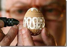 Eggshell carving!!