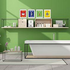 Kids Bathroom Wall Decor Set - Kids Rules Wall Art 8x10 Primary or Neutral Colors Available Kim Marie Cartoons http://www.amazon.com/dp/B01CF5AZTS/ref=cm_sw_r_pi_dp_TRA5wb0AJDQ5X