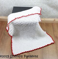 CROCHET PATTERN For Waffle Stitch Baby Afghan Blanket от ShiFio