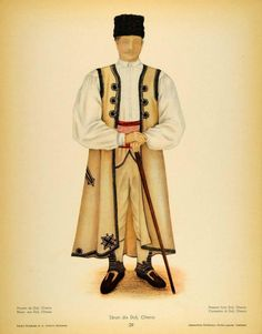 Dolj, Oltenia (Wallachia) Folk Costume, Costumes, Paper Dolls Clothing, 19th Century Fashion, Color Grading, Greek Clothing, Free Black, Traditional Outfits, The Originals