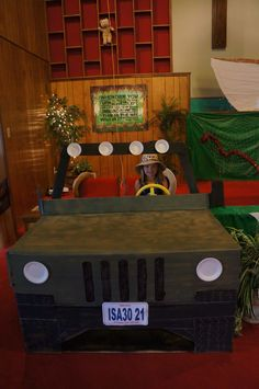 vbs 2015 journey off the map Safari Party, Jungle Party, Safari Theme, Jungle Theme, Safari Photo Booth, Safari Jeep, Jungle Decorations, Off The Map, Vbs 2016
