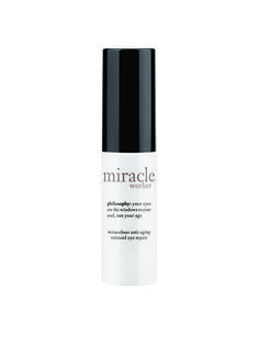 EYE CREAM LINE-SMOOTHING  The souped-up retinoid in Philosophy Miracle Worker Miraculous Anti-Aging Retinoid Eye Repair boosts collagen production to thicken thin skin and minimize creases.