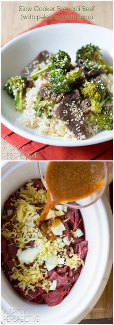 Slow Cooker Broccoli Beef #paleo