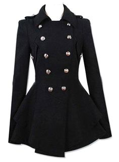 Fashionable Turn-Down Collar Double-Breasted Epaulet Embellished Pleated Top Long Sleeves Slimming Coat For Women