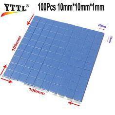 YTTL New & Original 2016 100mm*100mm*1mm GPU CPU Chip Heatsink Cool Thermal Conductive Silicone Pad
