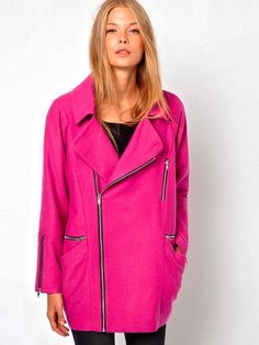 Hot Pink is popping up everywhere this winter. Pair one (or more) of these 10 awesome pink coats with Lisette L pants in a neutral color. | hot pink coat | pink coat | winter fashion trend | style