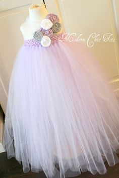 Beautiful tutu dress for birthdays, flower girls and other special occasions.