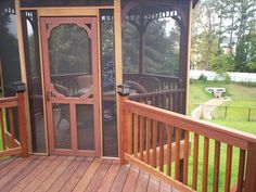 Gazebo On Deck, Screened In Deck, Wooden Gazebo, Backyard Decks, Screened Porches, Front Porch, Outdoor Gazebos, Outdoor Spaces, Outdoor Living